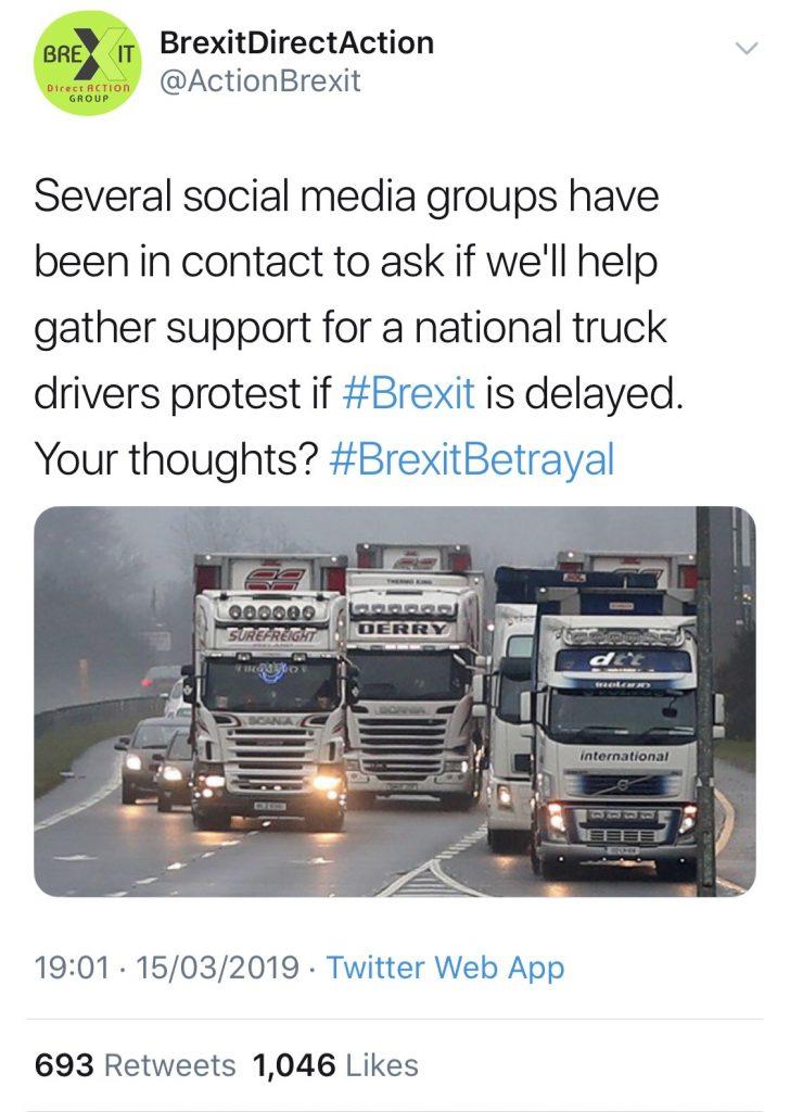 British Truck Drivers threaten to BLOCK 'Planes, Trains