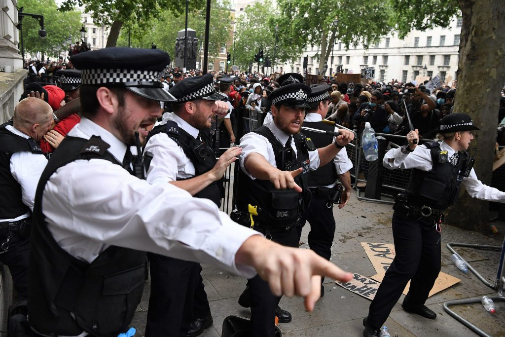 Police officer assaulted outside Downing Street at Black Lives Matter protest