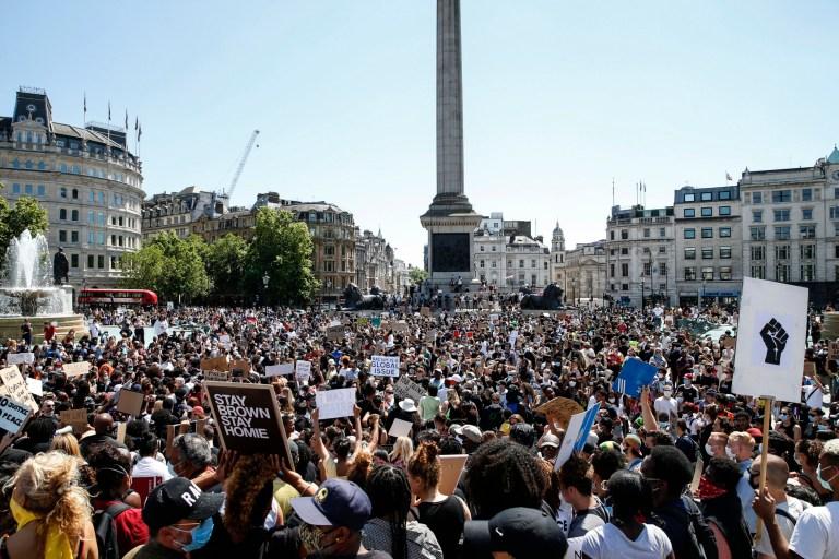 Metropolitan Police make 23 arrests at Black Lives Matter protests in London