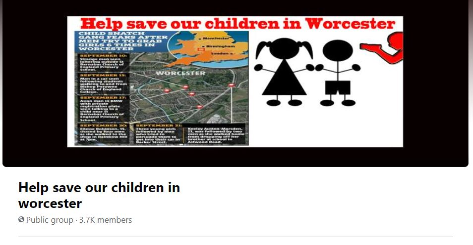 Police Chief says 'no evidence' gangs or individuals are trying to abduct Children in Worcester