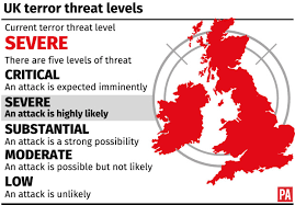 United Kingdom's national terrorism threat level moved to 'SEVERE' after attacks in Austria and France